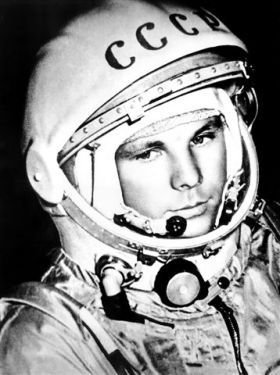 Gagarin in space suit
