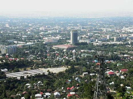 View over Almaty (former Kazakhstan capital) from Kok-Tobe