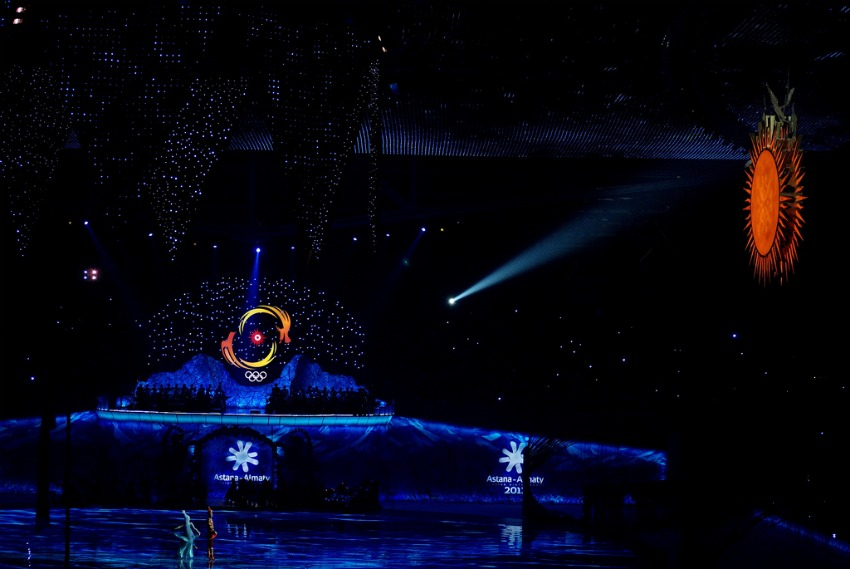 Asiad 2011 Opening at Astana Arena in Kazakhstan