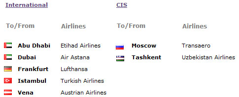 Astana Flights