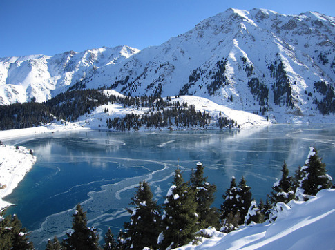 Almaty Lake in November