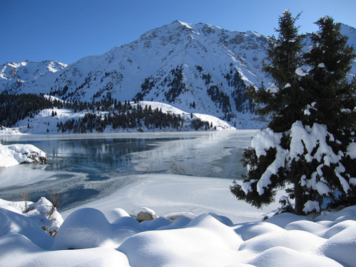 Almaty Lake in Winter