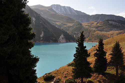 Big Almaty Lake in Autumn