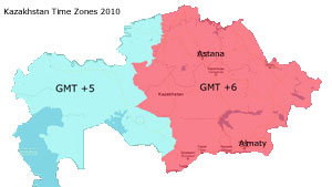 current time in kazakhstan and time zones in kazakhstan