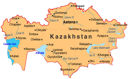 Map of Kazakhstan and frequently asked questions