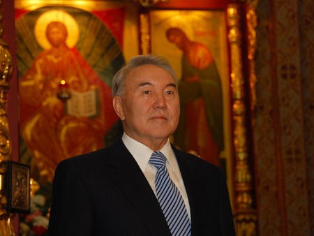 Nursultan Nazarbayev Congratulating Russian Orthodox on Christmas 2011