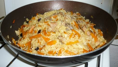 Plov - Central Asian Rice Dish