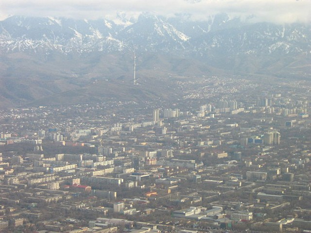 Aerial View over Almaty