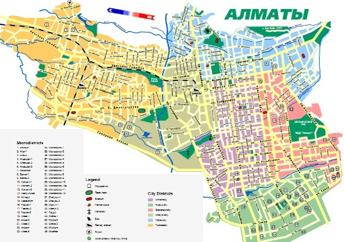 almaty map streets