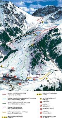 Chimbulak Map - Chimbulak Ski Resort