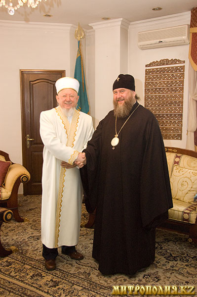 Metropolitan Bishop of Astana and Kazakhstan and Grand Mufti of Kazakhstan Christmas 2011