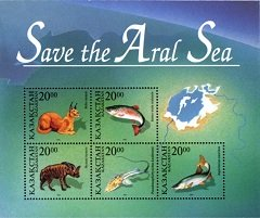 Save the Aral Sea Post Stamps