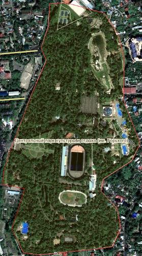 The Gorky Park on Almaty Map