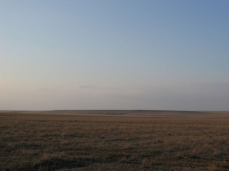 Kazakh Steppe of Western Kazakhstan in the early spring
